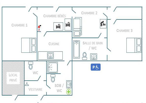 Plan de la maison et équipement